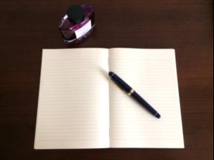 万年筆とノート