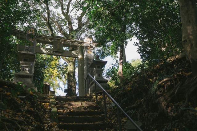福岡県大刀洗の甲条神社の鳥居