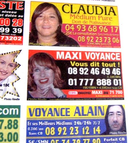 フランスの占い広告