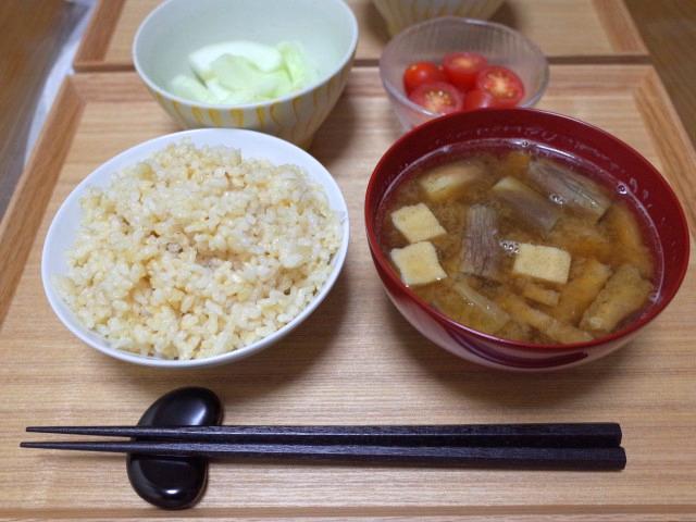 玄米菜食ランチ例